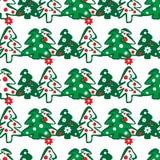 валы картины рождества безшовные Иллюстрация вектора