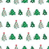 валы картины рождества безшовные Стоковая Фотография