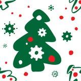 валы картины рождества безшовные Иллюстрация штока