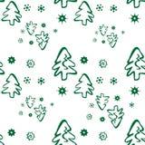 валы картины рождества безшовные Стоковое Изображение RF