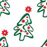валы картины рождества безшовные Стоковое Фото