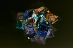 Валюта евро & x28; банкноты & x29; в предохранении от ультрафиолетового света Стоковые Фотографии RF