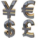 Валюта знака Стоковое Изображение