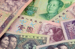 Валюта китайца ЮАНЕЙ Стоковое Изображение RF