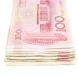 Валюта Китая 100 юаней Стоковое Изображение
