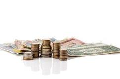 Валюта мира под защитой доллара Стоковые Изображения RF