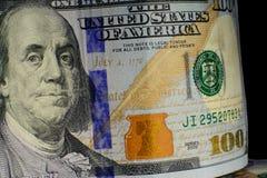 Валюта Соединенных Штатов 100 долларов американская Новые счеты f Стоковая Фотография