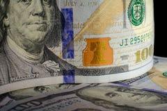 Валюта Соединенных Штатов 100 долларов американская Новые счеты f Стоковые Изображения
