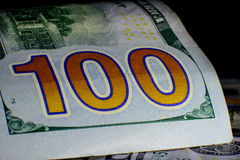 Валюта Соединенных Штатов 100 долларов американская Новый ба Билла Стоковые Фотографии RF