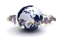 Валюта фунта глобального бизнеса бесплатная иллюстрация