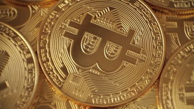 Валюта Bitcoin цифров акции видеоматериалы