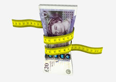 валюта 3D Великобритании с парами ножниц Стоковое Фото