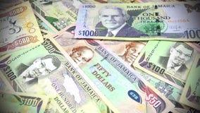 валюта 4k ямайки - концепция банка и экономической стабильности акции видеоматериалы