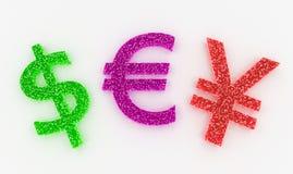 Валюты высокой детали красочные подписывают внутри сладостные конфеты Стоковое Фото