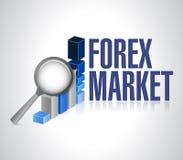 Валюты выходят на рынок под дизайном иллюстрации обзора Стоковая Фотография