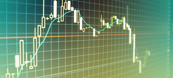 Валюты диаграммы Стоковая Фотография RF