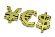 валюты 3D знака текст да Стоковая Фотография RF