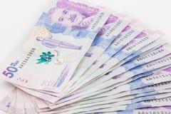 Валюшка 50 тысяч счетов колумбийских песо стоковое изображение rf