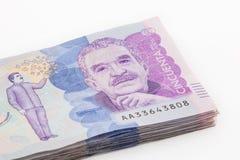Валюшка 50 тысяч счетов колумбийских песо стоковая фотография