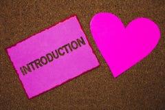 Введение текста почерка Часть смысла концепции первая представления документа официально к messa идей сердца бумаги аудитории стоковая фотография