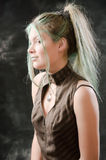 введенное в моду steampunk девушки Стоковые Фотографии RF