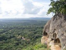 Вверху Sigiriya, Шри-Ланка Стоковое фото RF