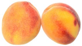2 вверх изолированного близкого персика Стоковые Изображения