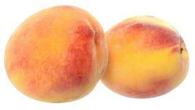 2 вверх изолированного близкого персика Стоковое фото RF