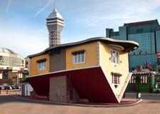 Вверх ногами дом Стоковое Фото