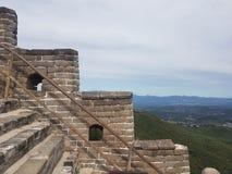 Вверх по Великой Китайской Стене Китая стоковые изображения rf