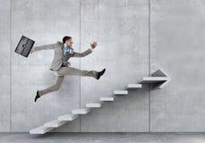 Вверх по лестнице карьеры Мультимедиа Стоковая Фотография