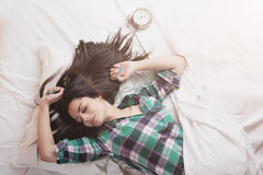 вверх по просыпать Стоковое Изображение