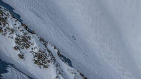 Вверх по Путешествовать лыжи стоковое изображение