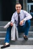 Введенный в моду на день в городе Стоковое Фото