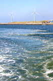 вдоль ветрянок Северного моря свободного полета голландских Стоковые Изображения RF