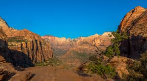 вдоль взбираясь оправы национального парка отстаньте zion ut США западное стоковая фотография rf