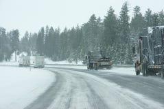 вдоль движения скоростей ледистых дорог снежного Стоковое Изображение