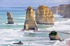 вдоль дороги 12 victoria океана апостолов большой Стоковые Фотографии RF