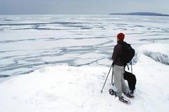 вдоль залива пропускает georgian льдед snowshoeing Стоковые Изображения RF