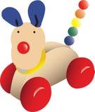 вдоль игрушки нажима собаки Стоковое Фото