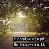 Вдохновляющая цитата Стоковая Фотография RF