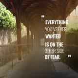 Вдохновляющая цитата Стоковая Фотография