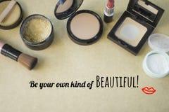 Вдохновляющее ` цитаты ваш собственный вид красивого ` стоковое изображение rf