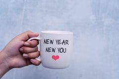 Вдохновляющий Новый Год цитат новый вы стоковая фотография