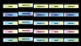 вебсайт вектора навигации кнопки Стоковое фото RF