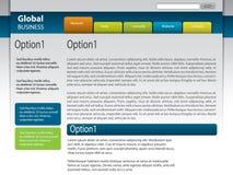 вебсайт вектора шаблона конструкции Стоковое Фото