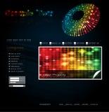 вебсайт вектора шаблона конструкции Стоковое Изображение RF