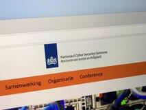 Вебсайт голландского национального центра безопасностью кибер - NCSC Стоковое фото RF