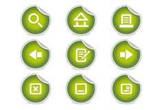 вебсайт зеленой навигации икон липкий Стоковые Изображения
