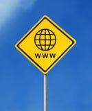 вебсайт знака Стоковая Фотография